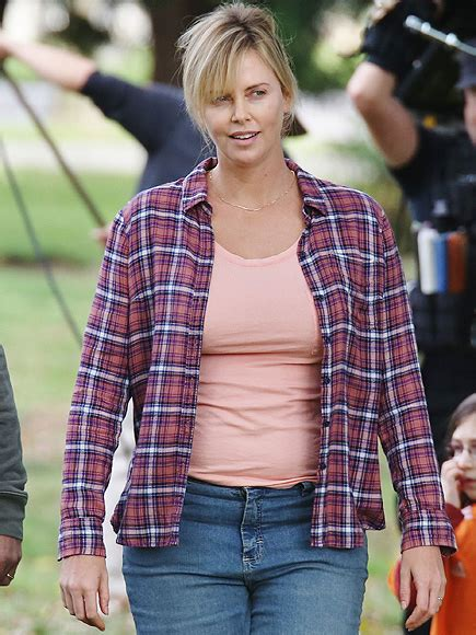 charlize theron showcases  fuller figure   film