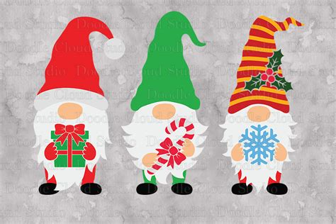 These files can be imported to a number of cutting machine software programs. Gnomes SVG, Christmas Gnome SVG, Christmas Gnome Clipart.
