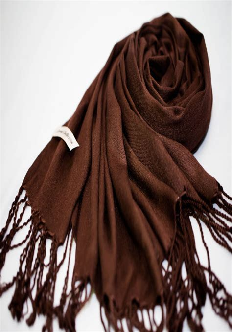 felisha pashmina brown chocolate brown pashmina