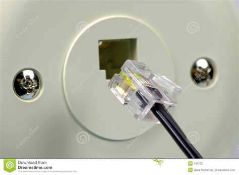 telephone jack stock image image of technology