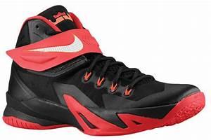 Nike LeBron Zoom Soldier 8 Black University Red Hyper ...