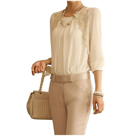 blouses and dresses 2015 cheap fashion white chiffon blouse lace