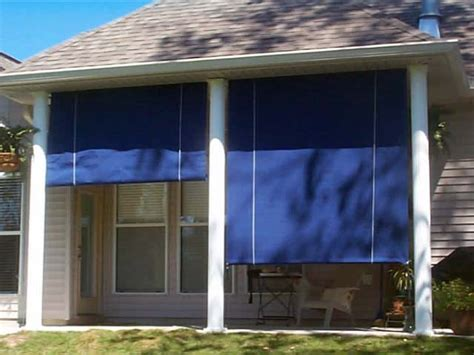 roll up patio blinds modern patio outdoor