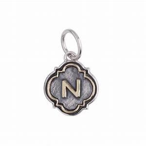 letter quotnquot quatrefoil insignia charm by waxing poetic With waxing poetic letter charms