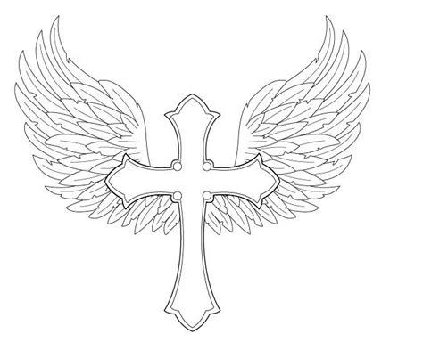 angel wings  cross  fighttheassimilationdeviantart