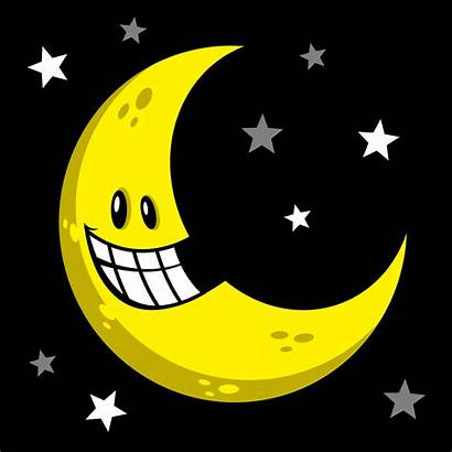 Moon Cartoon Smiling Vector Illustration Clipart Graphics