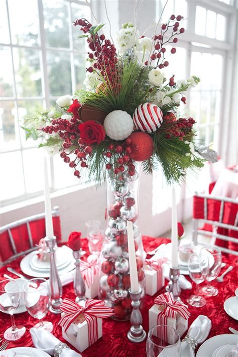 xmas table centerpieces ideas 40 red and white christmas decorating ideas all about