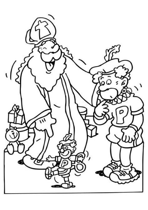 Kleurplaat Voetbal Piet by Kleurplaat Sinterklaas Kleurplaat Sinterklaas En Zwarte