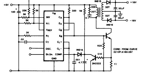 Electrinic Circuit Flyback Converter Diagram