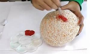 Fabriquer Un String : elle colle de la ficelle sur un ballon gonflable et la ~ Zukunftsfamilie.com Idées de Décoration