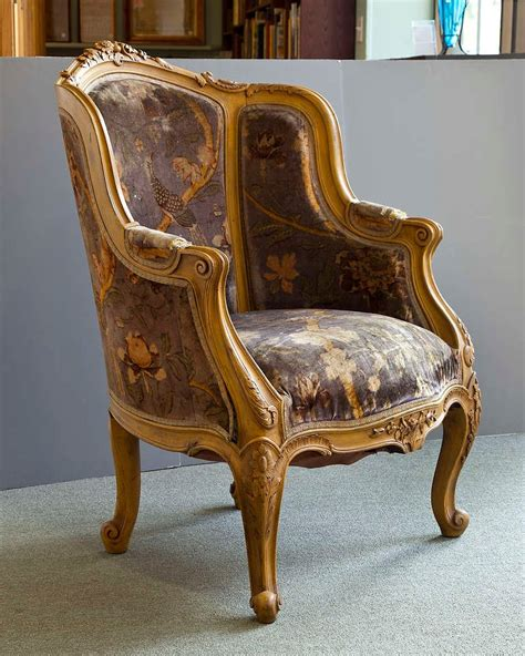 pair louis xiv style antique bergere arm chairs at