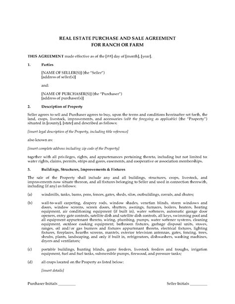 colorado real estate purchase agreement simple form usa real estate purchase and sale agreement for ranch or