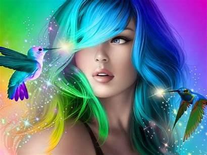 Colorful Desktop Hair Mobile Phones Laptops Wallpapers