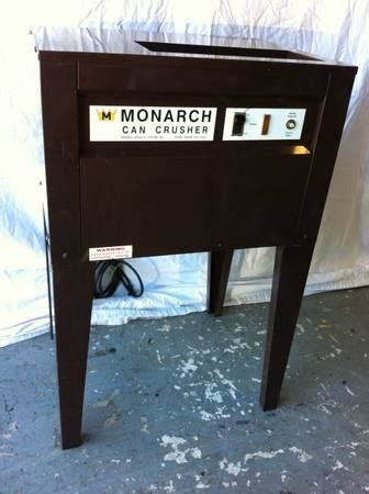 monarch model  commercial aluminum  crusher