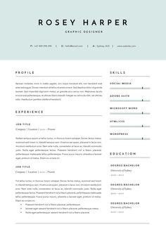 One Or Two Page Resume Better by Modern Resume Template It Resume Template Graphic