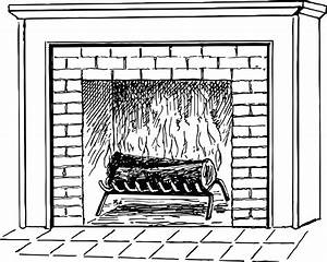 Free, Clipart, Of, A, Log, Burning, In, A, Fireplace