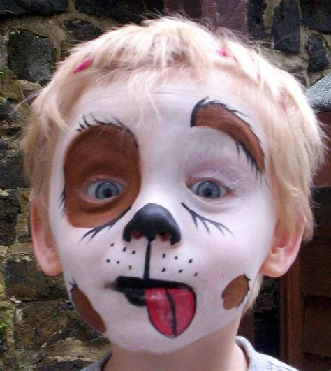 puppy dog face paint Maquillaje de perro Maquillaje