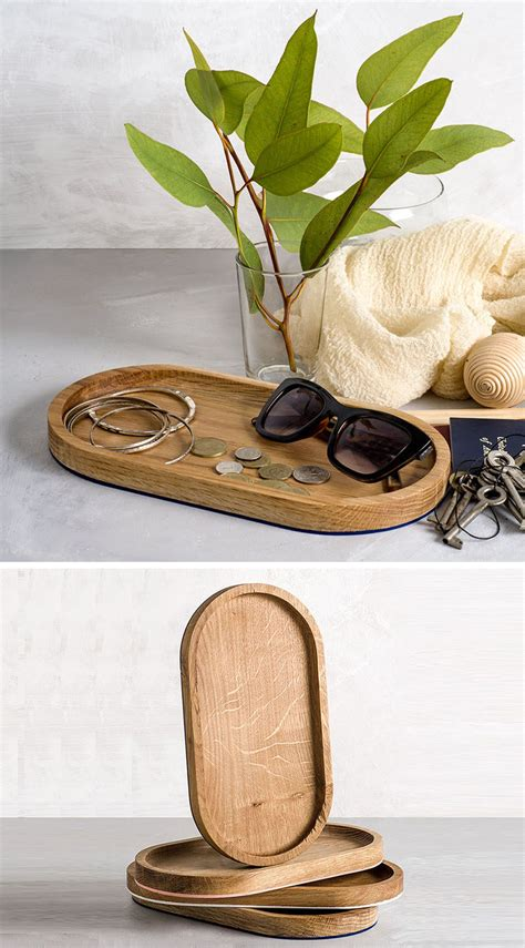 decorative wood trays  add  natural touch