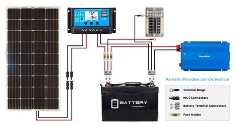 solar calculator and diy wiring diagrams van build