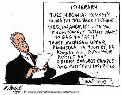 Biden Payne Cartoon Fool Itinerary Funnies Henry
