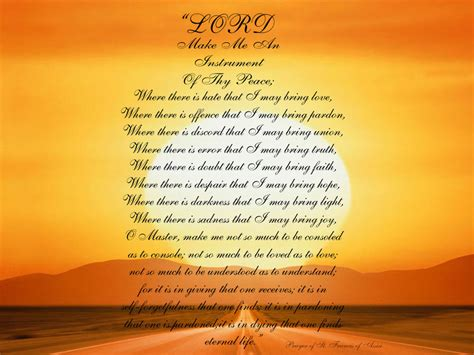 prayer of st francis of assisi st francis of assisi prayers and quotes quotesgram