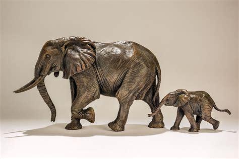 Bronze Elephant Sculpture SOLD OUT - Nick Mackman Animal ...
