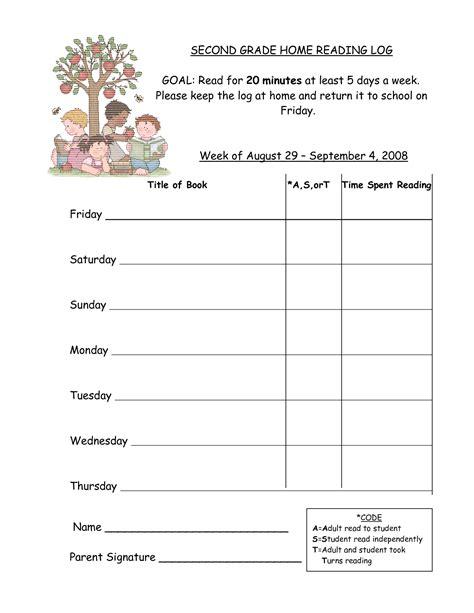 Free Printable First Grade Reading Logs  1000 Ideas About Kindergarten Reading Log On Pinterest