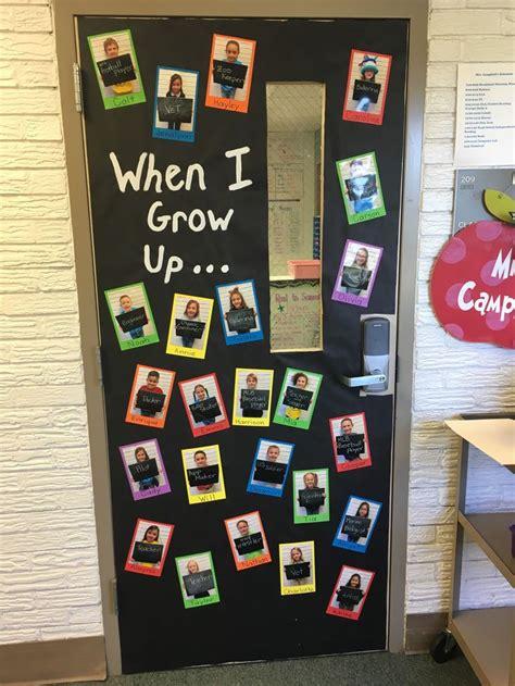 grow  preschool door decorations spring