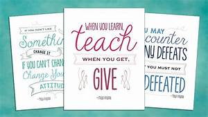 Maya Angelou Education Quotes: 8 Free Printable Posters