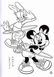 Walt Disney Coloring Pages - Daisy Duck & Minnie Mouse ...