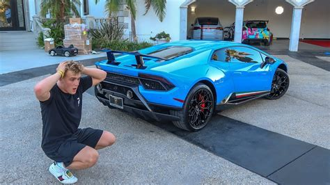 Taking Delivery Of Jake Paul S 350 000 Huracan