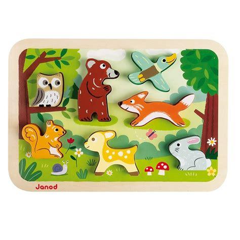 janod cuisine en bois puzzle en bois chunky forêt janod acheter sur greenweez com