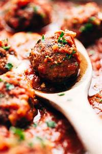 Cheese Stuffed Meatballs In Homemade Tomato Sauce Recipe
