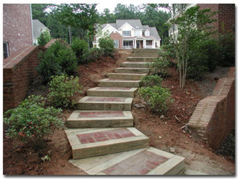 reineke decorating st louis 28 steps with timbers and brick lakefront steps