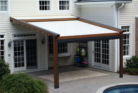 metal bed frame retractable roof pergola diy home design ideas
