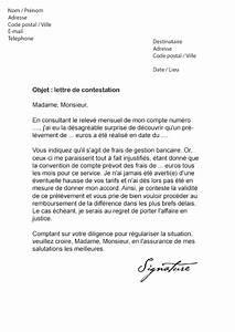 Contestation Fourriere Remboursement : lettre de contestation frais bancaires mod le de lettre ~ Gottalentnigeria.com Avis de Voitures