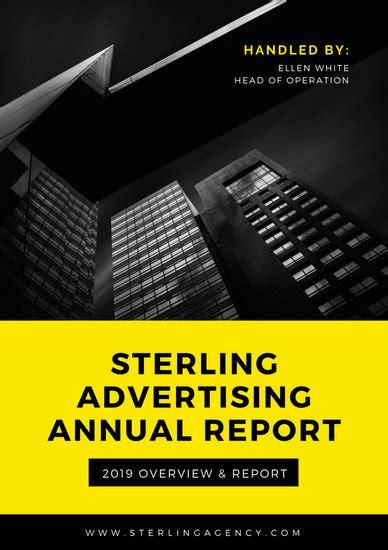 cream architecture annual report templates  canva