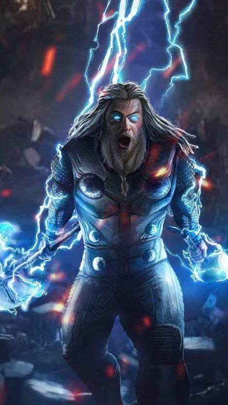 god  thunder thor endgame fight iphone wallpaper