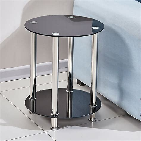 Get the best deals on shape round type coffee table. Modern 2 Tier Round Coffee Table Glass Top Sofa Side End Table Home Decor New   eBay