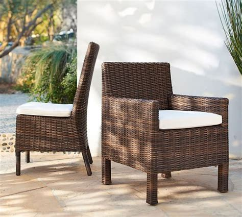 torrey all weather wicker dining chair espresso