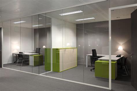 bureau plus ca separadores ambiente cristal oficinas modernas