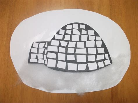 preschool crafts for igloo paper craft 569 | 009