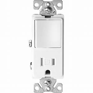 Eaton 15 Amp Tamper Resistant Decorator Combination Single