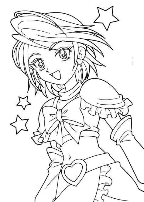pretty cure coloring pages  girls printable