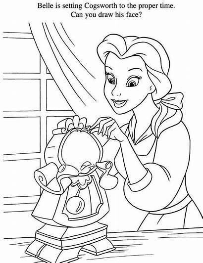Princess Belle Disney Coloring Colouring Princesas Colorear