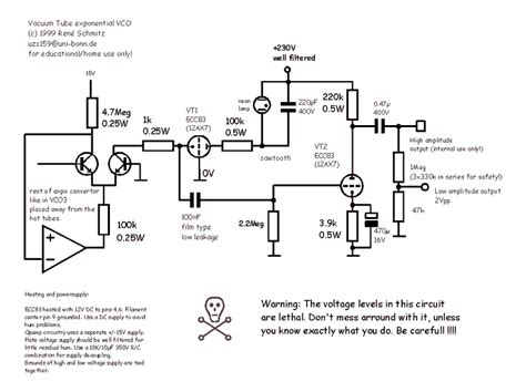 synth schematics vacuum tube vco