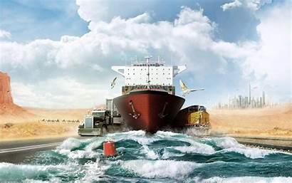 Logistics Wallpapers Future Desktop Logistic Desert Cargo