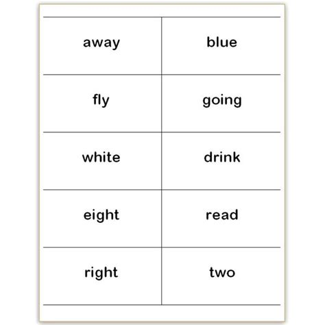 flashcard template docs where to find and how to make printable dolch sight word wall cards in microsoft word