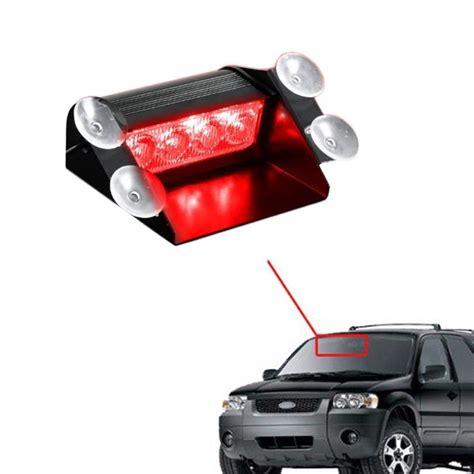 red led vehicle warning lights red 4 led car emergency warning dashboard dash visor