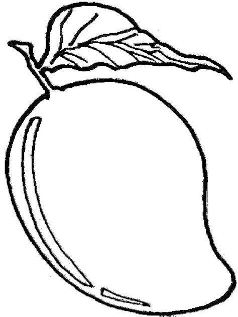 gambar buah mangga untuk di warnai anak paud tk dan sd